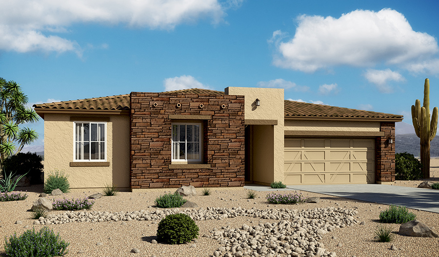 Exterior B of the Delaney floor plan in the Starr Ridge community
