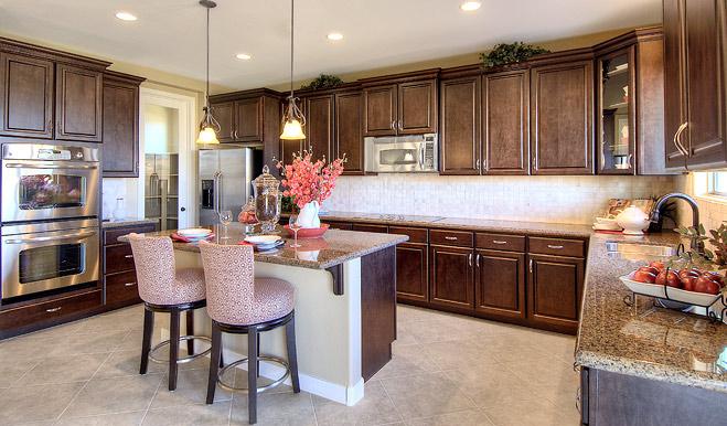 Kitchen in the Denise floor plan