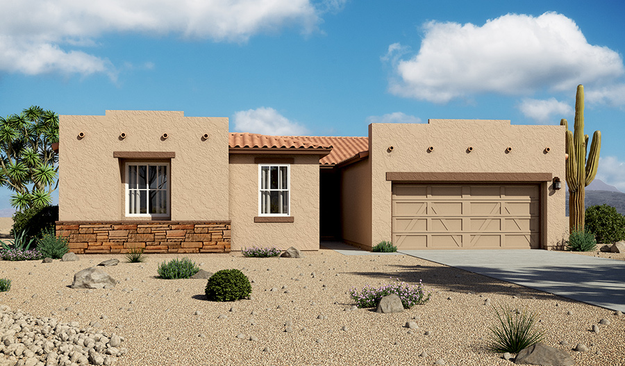 Exterior B of the Denise floor plan in the Starr Ridge community
