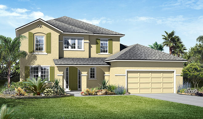 Exterior D of the Desiree floor plan