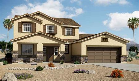 Exterior B of the Desiree floor plan in the Granite Falls community