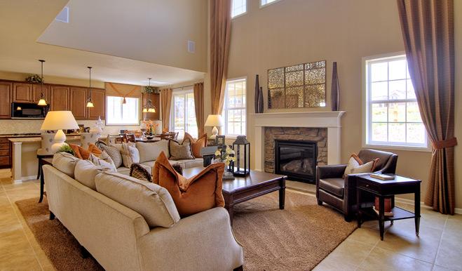 Family room of the Dillon floor plan. Dillon floor plan at Arroyo Norte   Richmond American Homes