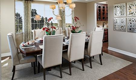 Dining room in the Dillon floor plan