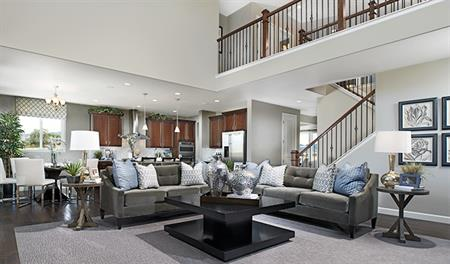 Great room in the Dillon floor plan