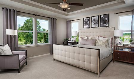 Master bedroom in the Dillon floor plan