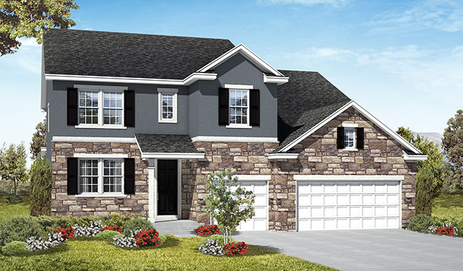 Exterior A of the Dillon floor plan in the Three Forks community