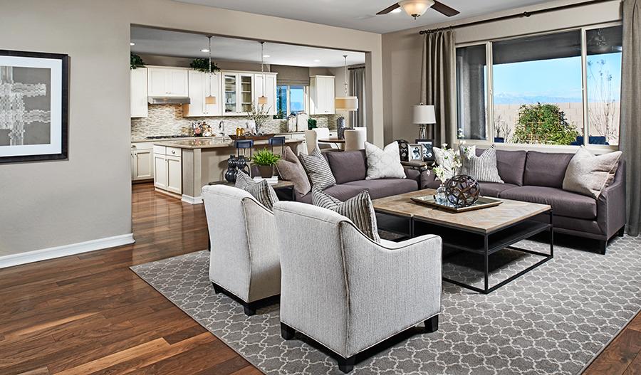 Great room in the Dominic floor plan