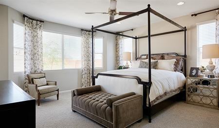 Master bedroom in the Dominic floor plan