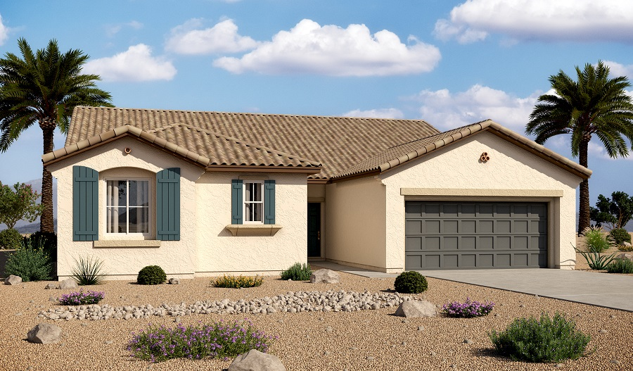 Exterior A of the Dominic floor plan in the Granite Falls community