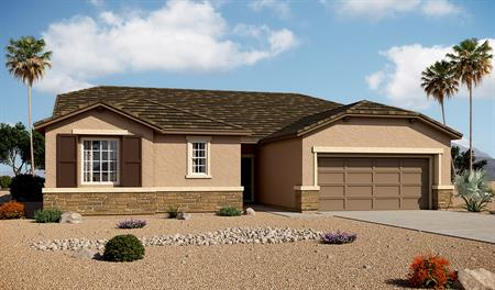 Exterior B of the Dominic floor plan in the Arlington Point community