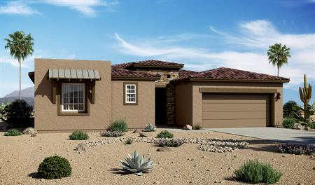 Exterior C of the Dominic floor plan in the Starr Ridge community