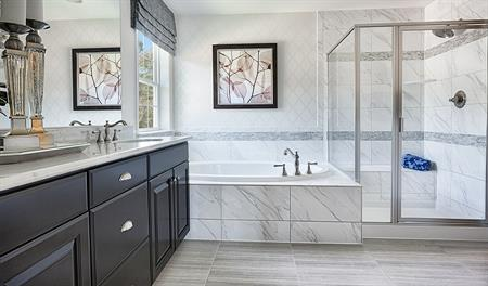 Master bath with walk in shower in the Donovan floor plan