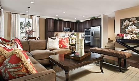 Great room in the Edward floor plan