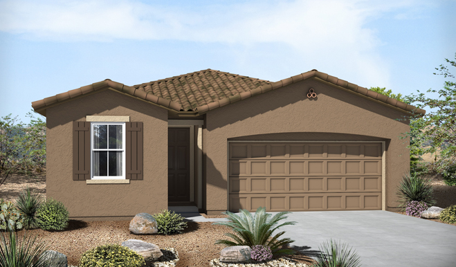 Exterior A of the Fenton floor plan in the Eagle Crest Ranch community