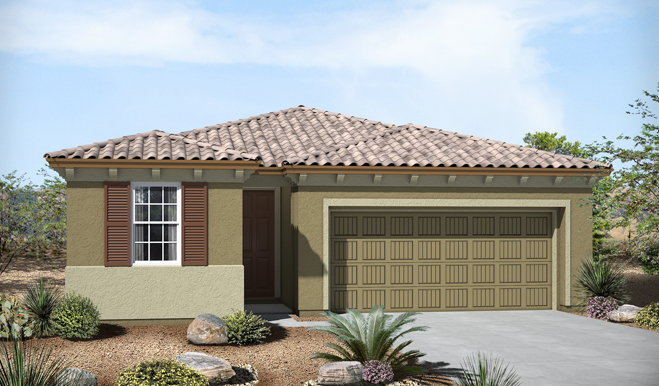 Exterior B of the Fenton floor plan in the Eagle Crest Ranch community