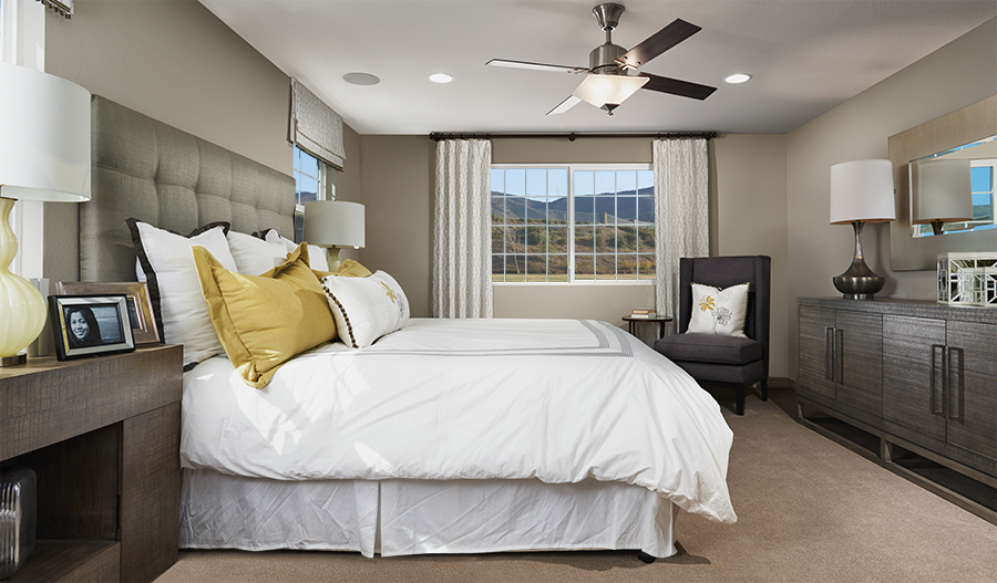 Master bedroom in the Fleming floor plan