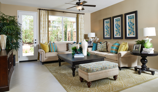 Family room of the Ford floor plan