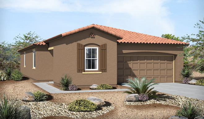Exterior A of the Ford floor plan in the Eagle Crest Ranch community