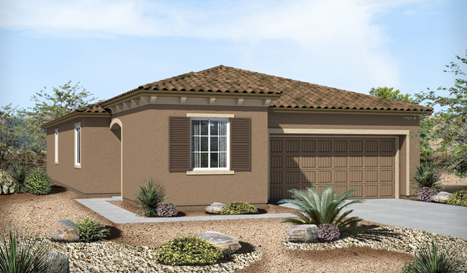 Exterior B of the Ford floor plan in the Eagle Crest Ranch community