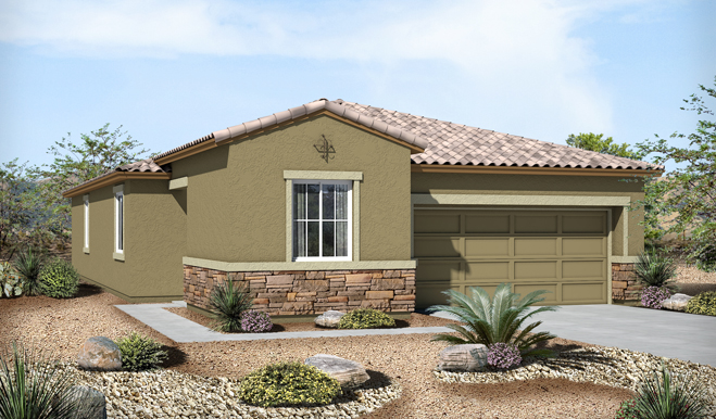 Exterior C of the Ford floor plan in the Eagle Crest Ranch community