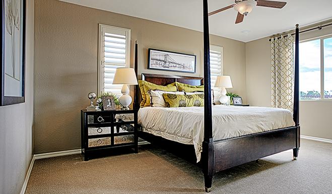 Master bedroom in the Franklin floor plan