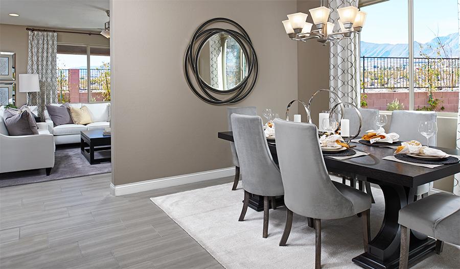 Dining room in the Franklin floor plan
