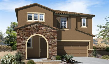 Exterior C of the Franklin floor plan in the eagle Crest Ranch community