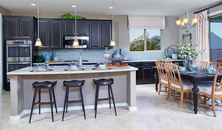Kitchen with large center island in the Fremont floor plan