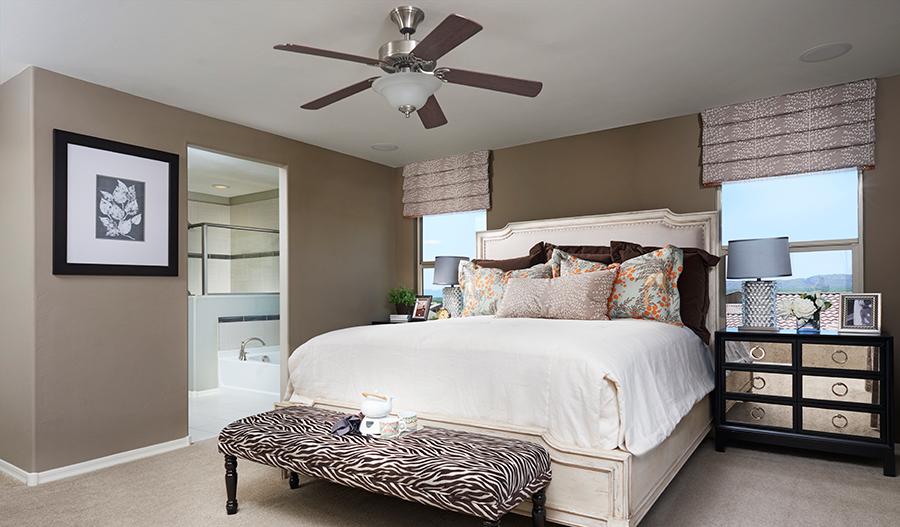 Master bedroom in the Fremont floor plan