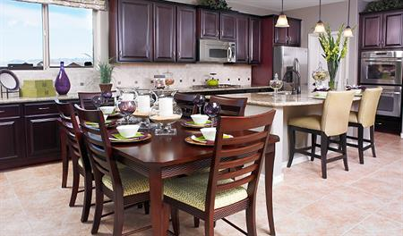 Kitchen and nook in the Fremont floor plan