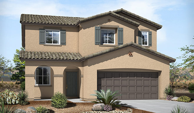 Exterior A of the Fremont floor plan in the Skyline Ridge community