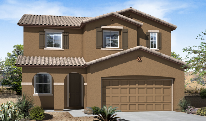 Exterior A of the Fremont floor plan in the Eagle Crest Ranch community