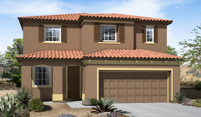 Exterior B of the Fremont floor plan in the Eagle Crest Ridge community