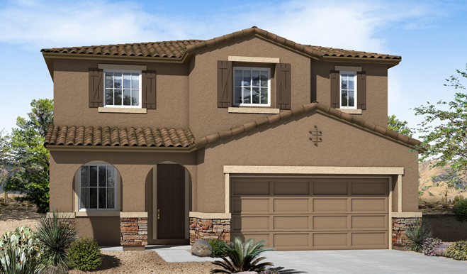 Exterior C of the Fremont floor plan in the Eagle Crest Ranch community