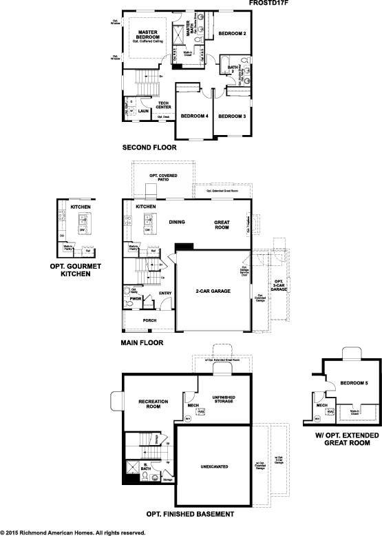 Floor plan for Traditions of america floor plans