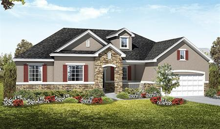 Exterior B of the Haley floor plan in the Royal Farms community