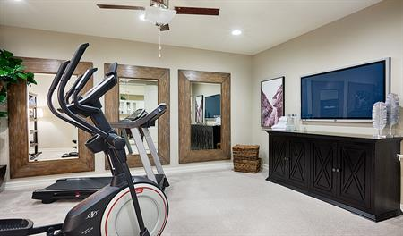 Basement fitness room of the Hanford II floor plan