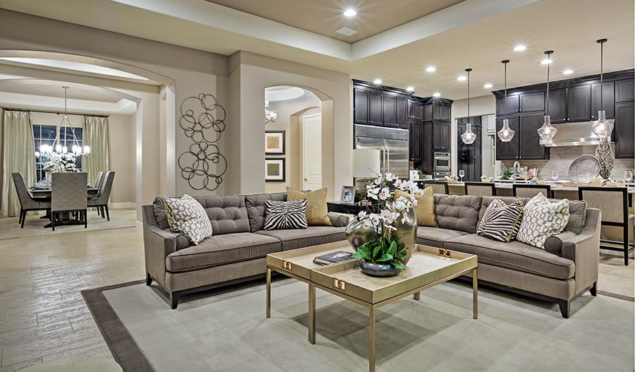 Great room in the Hanford floor plan
