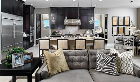 Great room in the Hanford floor plan