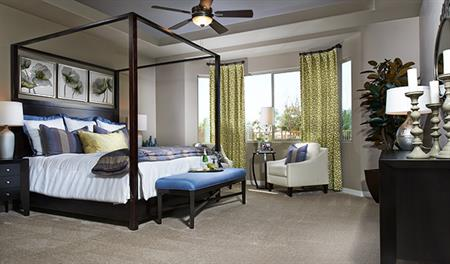 Master bedroom of the Harlan floor plan