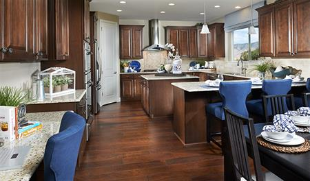 Kitchen in the Harlow floor plan