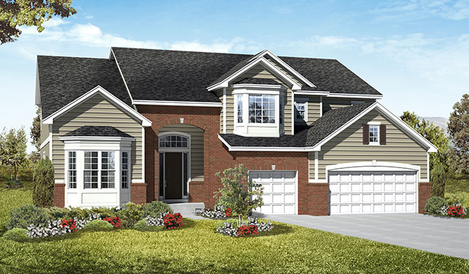 Exterior B of the Harlow floor plan in the Royal Farms community