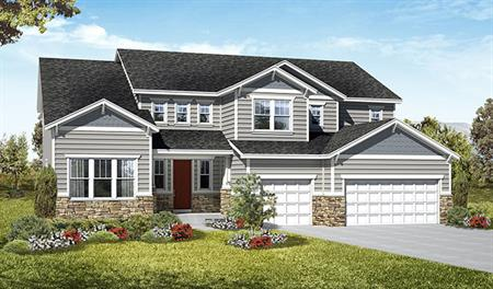 Exterior C of the Harlow floor plan in the Royal Farms community