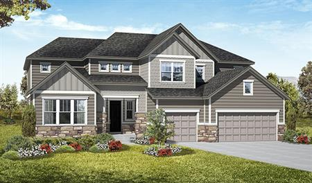 Exterior D of the Harlow floor plan in the Royal Farms community