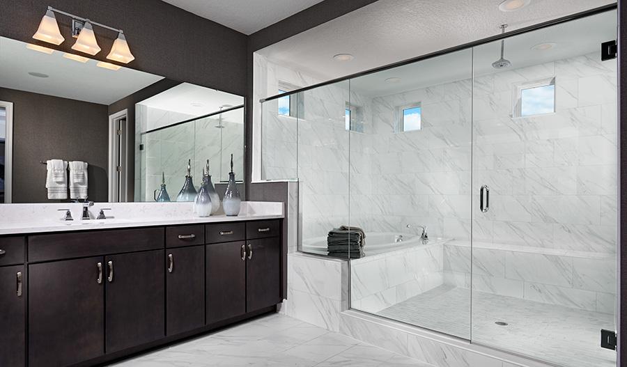 Master bath in the Harmon floor plan