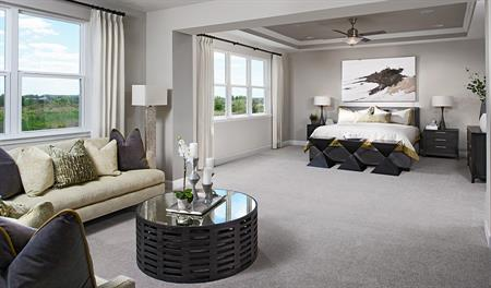 Master bedroom in the Harmon floor plan