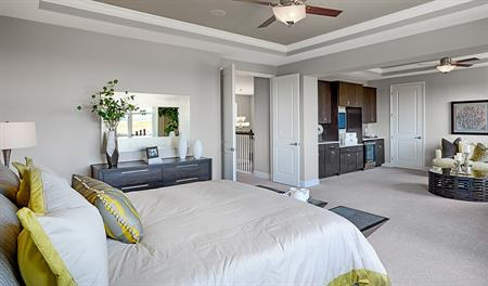 Master suite in the Harmon floor plan