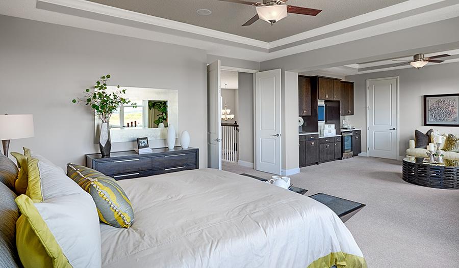 Master suite in the Harmon floor plan