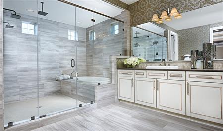 Master bathroom in the Harmon floor plan