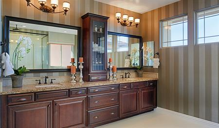 Master bathroom in the Hartman floor plan